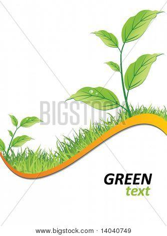 grüne Ökologie-Hintergrund
