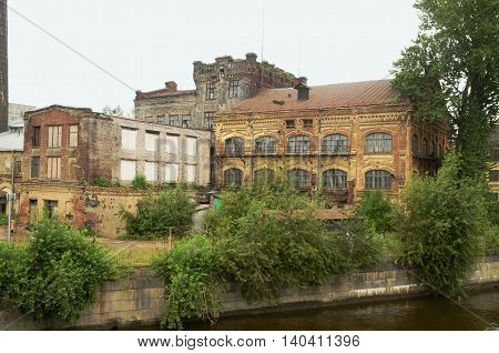 Old ruins in the port.The building was built back in tsarist times.