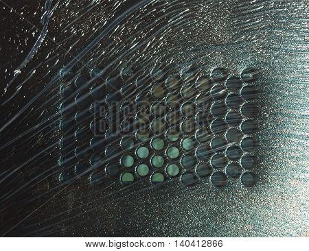 Abstract Metal Door Texture In Pvc Wrap.