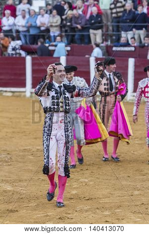 Ubeda SPAIN - October 4 2010: The spanish bullfighter Manuel Jesus