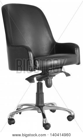 Black Leather Office Swivel Chair 09 b