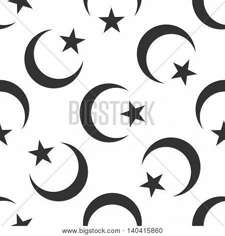 Islam symbol icon pattern on white background. Adobe illustrator