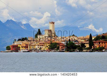 Malcesine Garda lake in Lombardia region, Italy