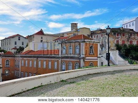Alfama district in city centre of Lisbon, Portugal