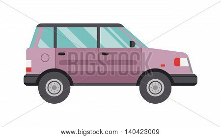 Cartoon car transportation technology and cartoon car performance concept. Cartoon car vehicle, transport and energy environment cartoon car. cartoon car fuel electric motor cartoon drive.