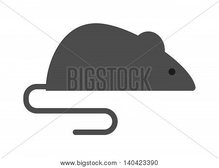 Mouse isolated on white background. Mouse isolated vector illustration. Small rodent cat food harmful rat. Domestic paw mammal isolated mouse cute gray mice. Harmful rat small rodent.