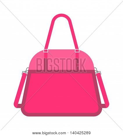 Pink fashion woman handbag vector. Glamour accessory handbag pink clutch and elegance modern pink clutch. Women pink clutch style. Luxury pink clutch women leather fashion.