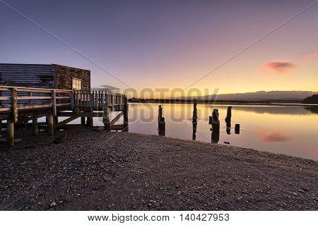 Boathouse At Okarito Lake