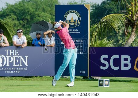CHONBURI - DECEMBER 13 : Berry Henson of USA player in Thailand Golf Championship 2015 at Amata Spring Country Club on December 13 2015 in Chonburi Thailand.