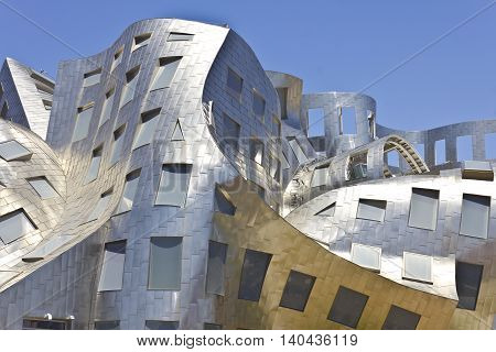 Las Vegas - Circa July 2016: The Cleveland Clinic Lou Ruvo Center for Brain Health. Designed by the architect Frank Gehry the clinic opened in 2010 I