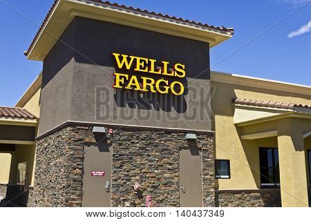 Las Vegas - Circa July 2016: Wells Fargo Retail Bank Branch. Wells Fargo is a Provider of Financial Services VI