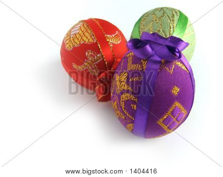 Easter Painted Egg Tied Up By Tapes