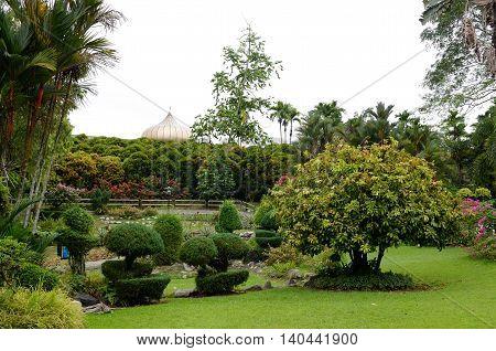 Kuala Lumpur/Malaysia - September 2012: ASEAN Sculpture Garden in Kuala Lumpur Malaysia