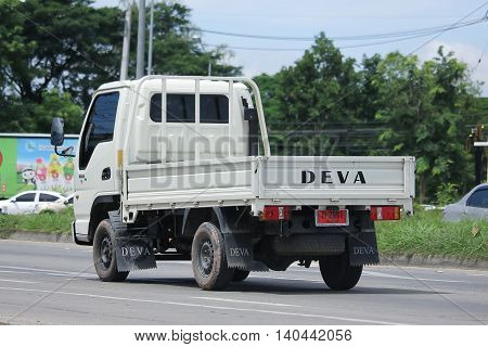 CHIANGMAI THAILAND -JULY 26 2016: Private Deva Truck. Deva is Product of China. On road no.1001 8 km from Chiangmai Business Area.