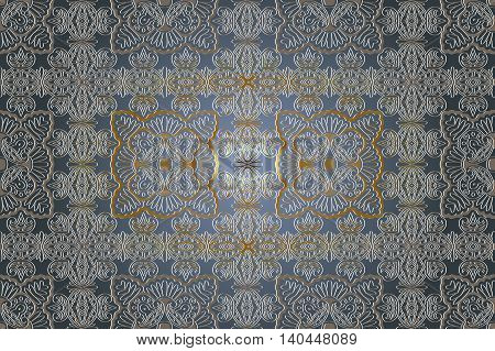 Abstract ornamental background. Round pattern. Vector art