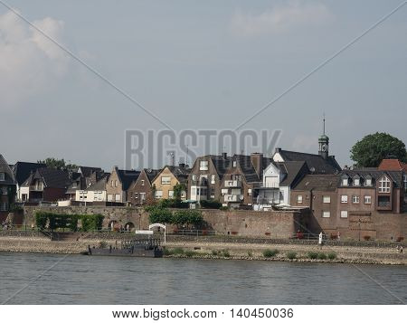 the lower rhine near rees in germany