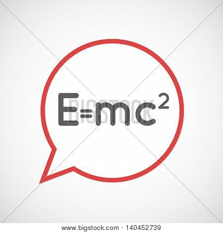 Isolated Comic Balloon Line Art Icon With The Theory Of Relativity Formula