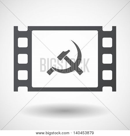 Isolated 35Mm Film Frame With  The Communist Symbol