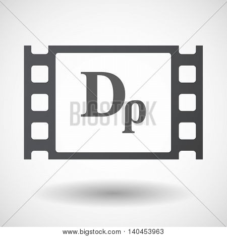 Isolated 35Mm Film Frame With A Drachma Currency Sign