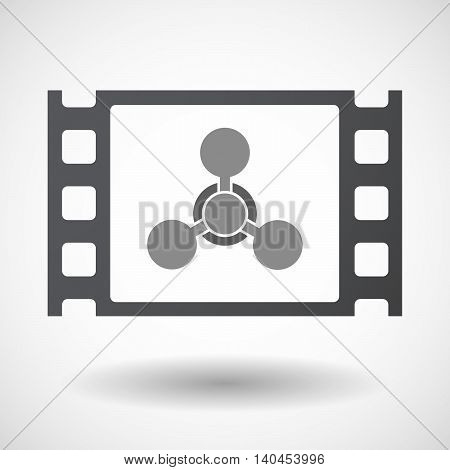 Isolated 35Mm Film Frame With A Chemical Weapon Sign