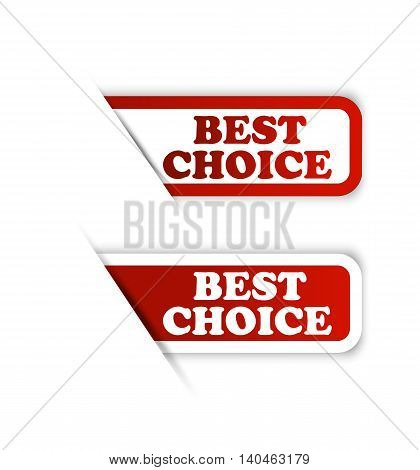 best price with best choice and best seller labels. vector