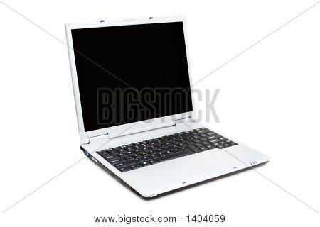 Opened Laptop (Isolated On White)