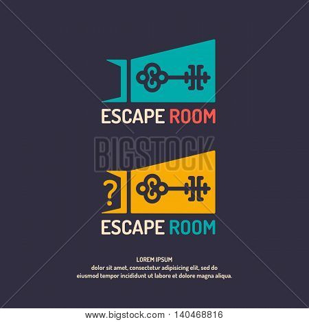 Real-life room escape. The logo for the quest room. poster