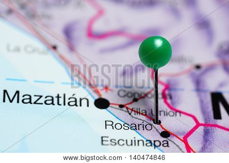 Rosario pinned on a map of Mexico