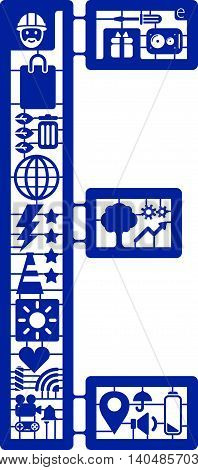 Assemble icon model kit form the font -E