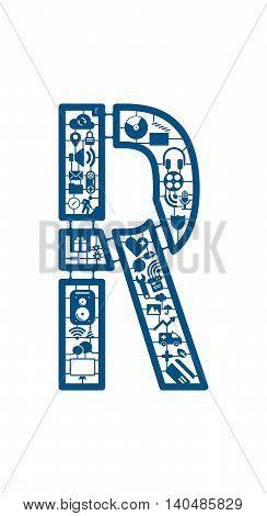 Assemble icon model kit form the font -R