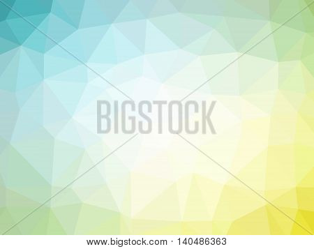 Yellow teal gradient abstract polygon shaped background.