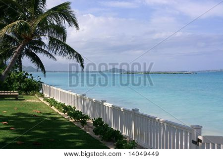 Blue water beach front property