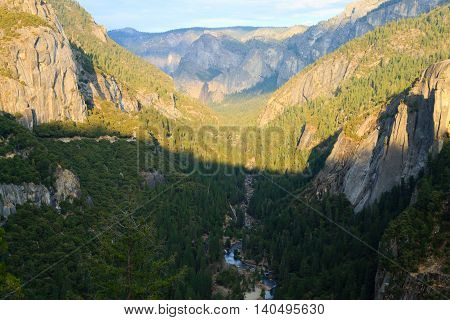 Panorama Of The Yosemite Valley