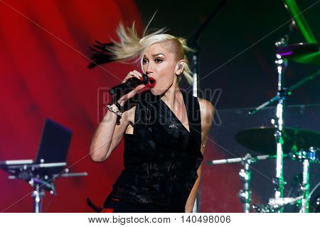 NEW YORK-SEPT 27: Singer Gwen Stefani of musical group No Doubt performs at the 2014 Global Citizen Festival to end extreme poverty by 2030 in Central Park on September 27, 2014 in New York City.