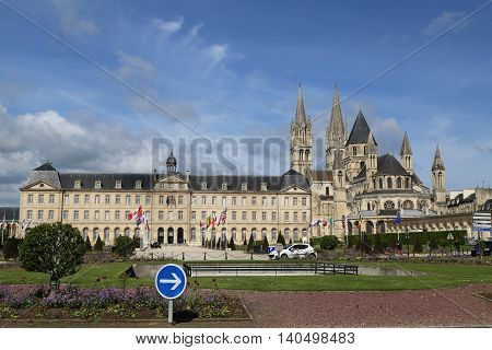 The building of the city administration in caen France