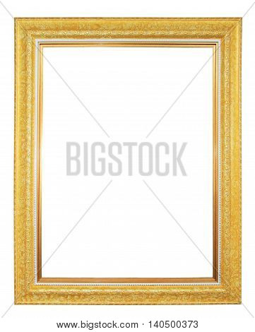 Gilted photo frame isolated on white background