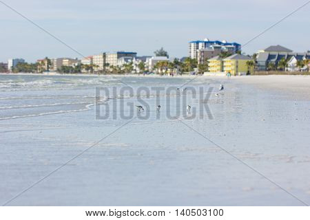 A view of Estero Island in Florida (Mexico Gulf) from the beach