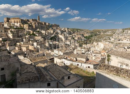 Matera Sassi di Matera - old stony town in Basilicata region southern Italy