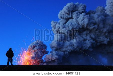 iceland volcano and ash cloud