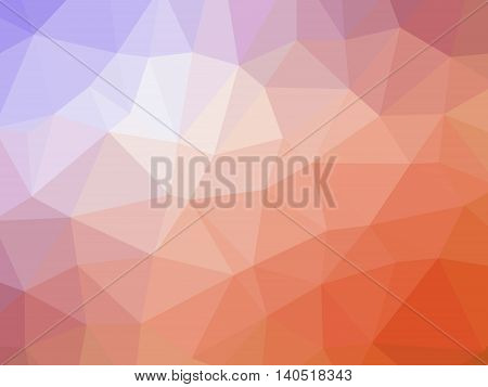 Abstract Orange Pruple Gradient Polygon Shaped Background