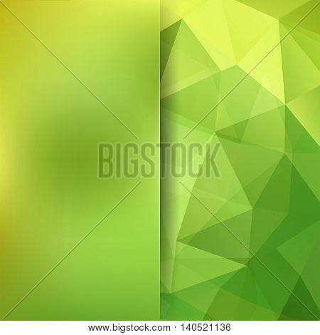 Background Made Of Triangles. Square Composition With Geometric Shapes And Blur Element. Eps 10 Yell