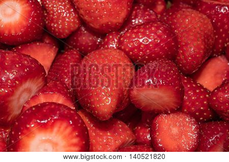 Strawberry - full frame in the early summer