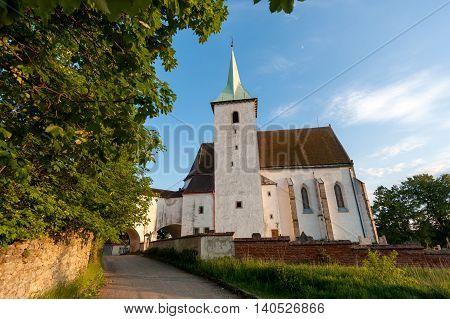 Church of Saints Peter and Paul Cizkrajov South Bohemia Czech Republic.
