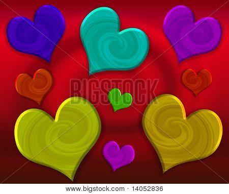 Swirls of Hearts