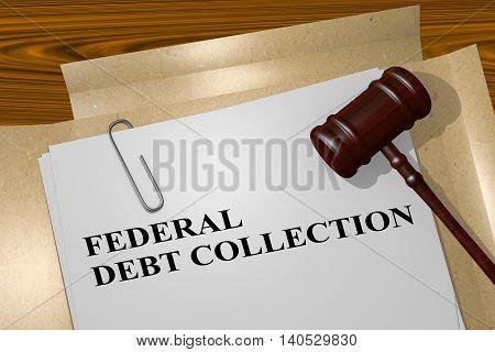 Federal Debt Collection Concept
