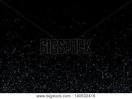 abstract glitter background effect. galaxy , universe , Sparkling star texture on black. Star dust sparks on black background. Vector Illustration , blue
