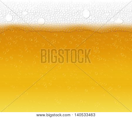 beer vector background , beer with bubble version