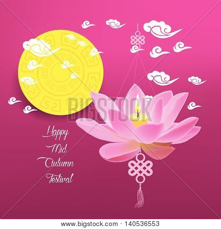 Mid Autumn Lantern Festival background. Chinese new year.