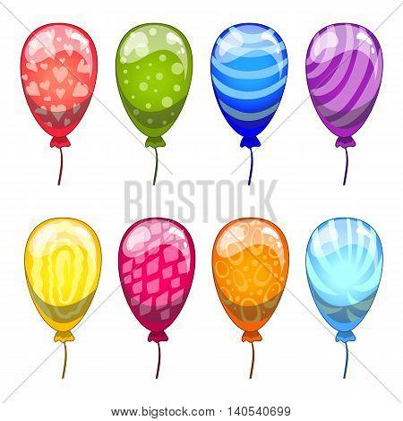 Сute cartoon vector balloons set. Cartoon illustration.