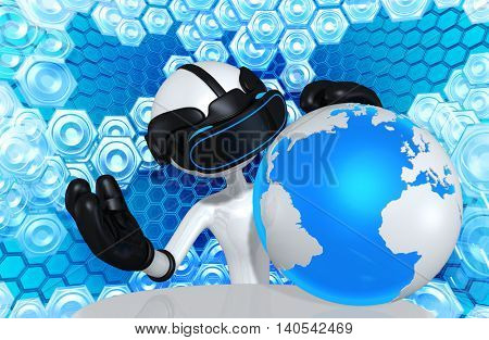 Virtual Reality VR World 3D Illustration